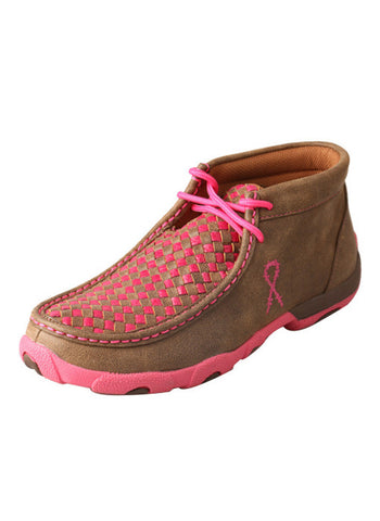 Twisted X Women's Driving Moccasins Bomber/Neon Pink