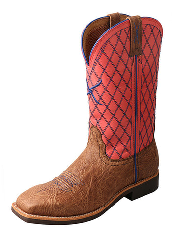 Twisted X Women's Top Hand Boot Brown Shoulder/Coral