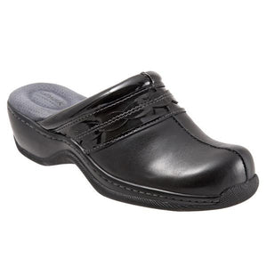 Softwalk Women's Abby Clog, Black Patent