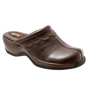 Softwalk Women's Abby Clog, Dark Brown
