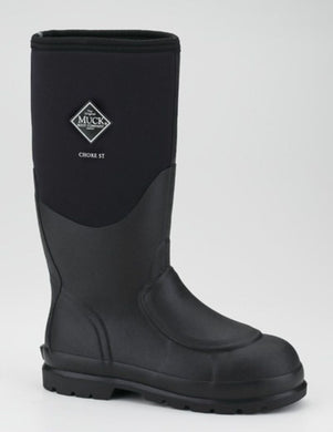 Muck Boot Men's Chore Hi Steel Toe Black