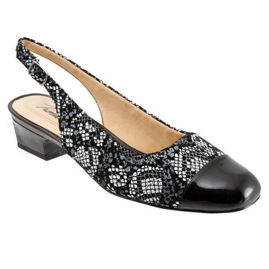 Trotters Women's Dea Shoe (Wide), Black Python