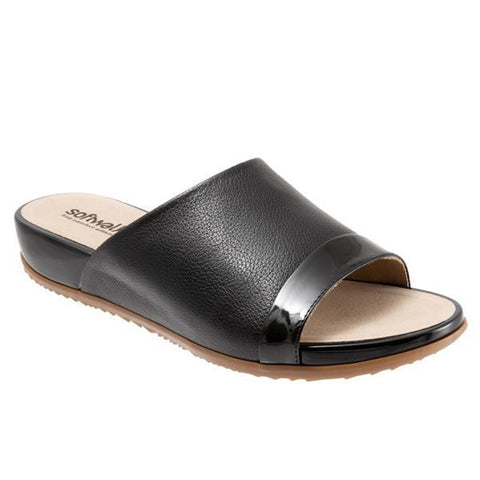 Softwalk Women's Del Mar Sandal (Wide), Black/Black Patent