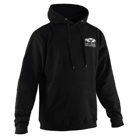 Grundens Men's Eat Crab Hoodie, Black