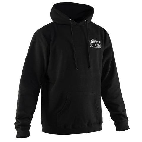 Grundens Men's Eat Fish Hoodie, Black