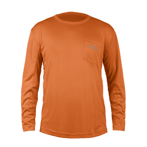 Grundens Men's Fish Head Long Sleeve Shirt, Burnt Orange