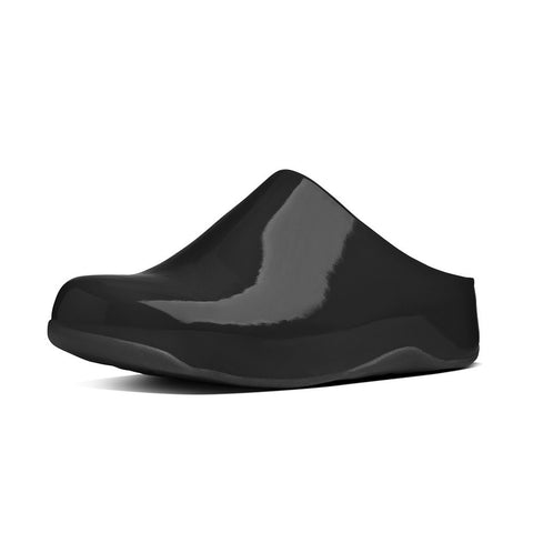 Fitflop Women's Shuv™ Patent Clogs Black