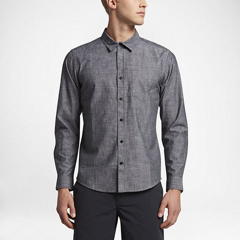 Hurley Men's One And Only 3.0 Long Sleeve Shirt, Black