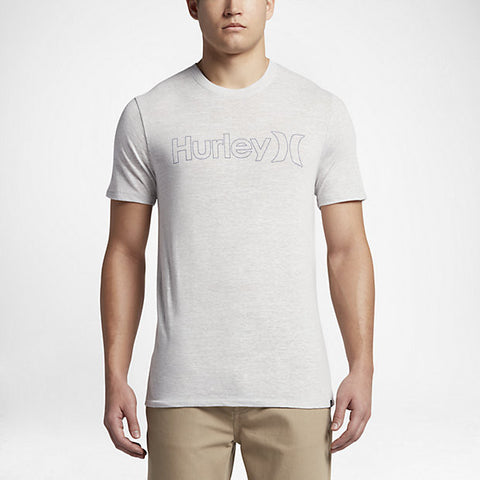 Hurley Men's One And Only Outline T-Shirt, Birch Heather