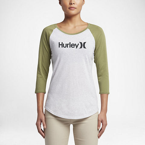 Hurley Women's One And Only Perfect Raglan, Bright Grey Heather