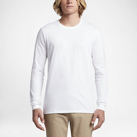 Hurley Men's Staple Long Sleeve Shirt, White