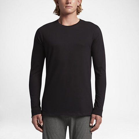 Hurley Men's Staple Long Sleeve Shirt, Black