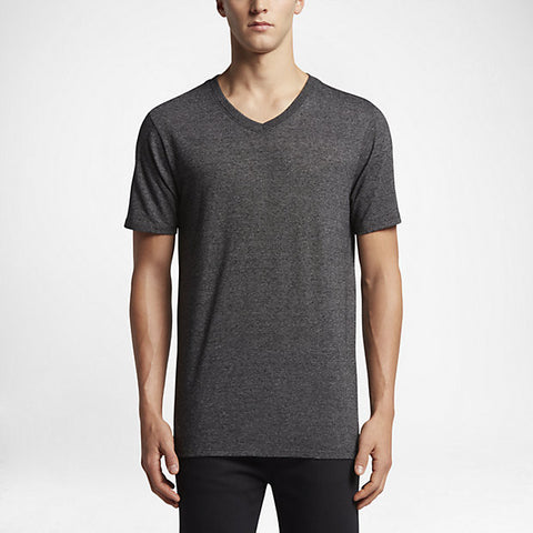 Hurley Men's Tri-Blend Staple V-Neck T-Shirt, Black
