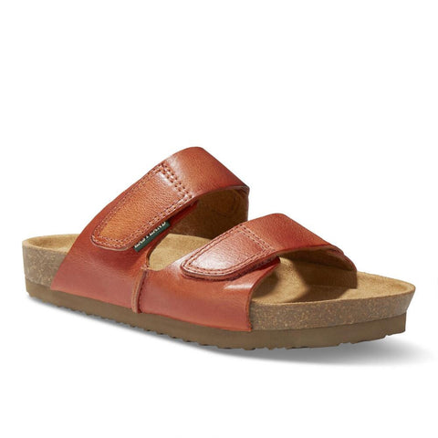 Eastland Women's Celeste Double Strap Slide Sandal - Orange