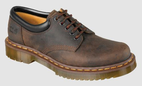Dr. Martens Men's 8053 Crazy Horse 5 Eye Padded Collar Shoe