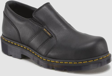 Dr. Martens Men's Resistor St Industrial Full Grain St Sd Slip On Shoe