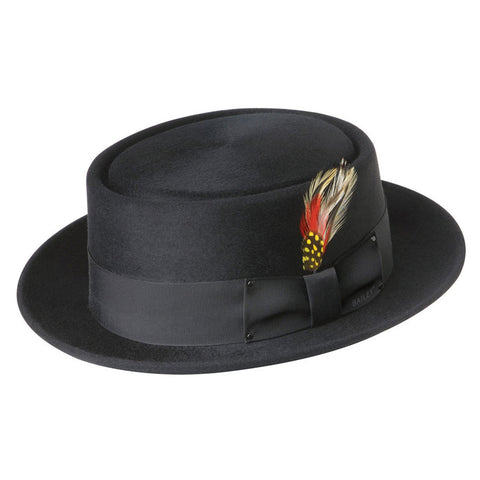 Bailey Mens Jett Pork Pie Hat