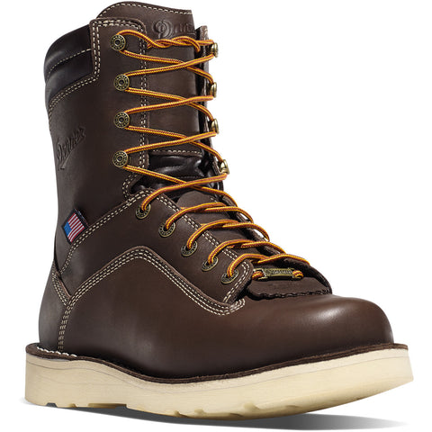 "Danner Men's Quarry USA 8"" Brown Wedge Boots"