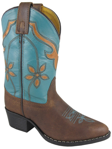 Smoky Mountain Youth Cactus Flower Leather Boot