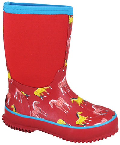 Smoky Mountain Children's Horsin Around Amphibian Rubber Boot