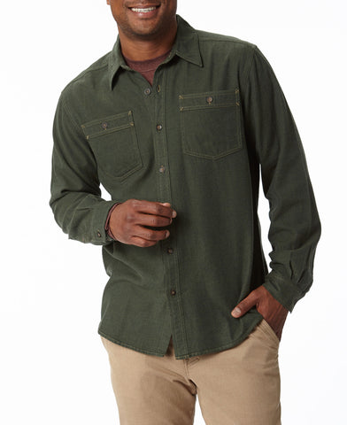 Royal Robbins Men's Bristol Tweed Long Sleeve Polo Shirt