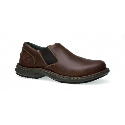 Timberland PRO Men's Gladstone Steel Safety Toe ESD Shoe Brown Full Grain