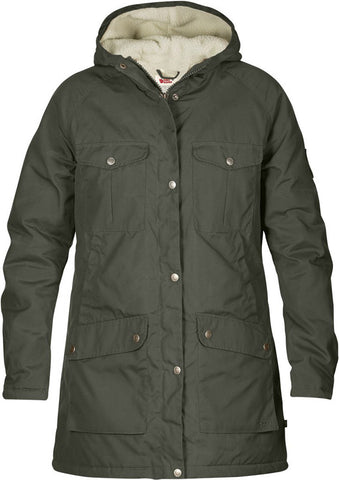 Fjallraven Womens Greenland Winter Parka Fleece Outerwear Jacket