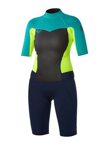Roxy Women's Syncro 2mm Short Sleeve Back Zip Wetsuit