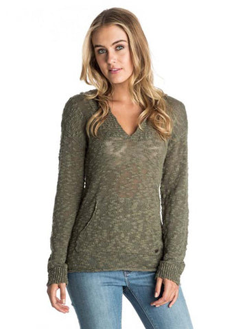 Roxy Women's Warm Heart Hooded Poncho Sweater