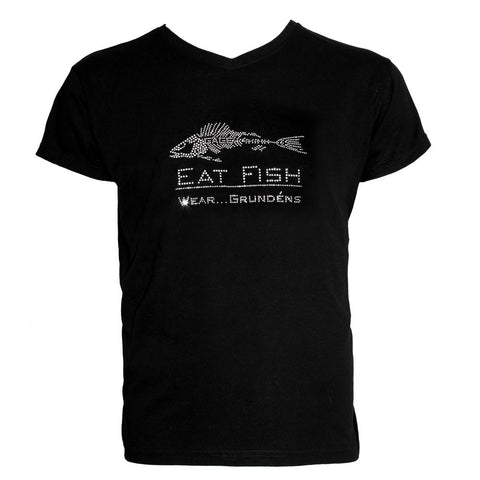 Grundéns Womens Eat Fish Bling T-Shirt