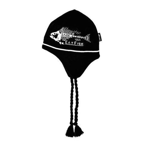 Grundens Unisex Eat Fish Knitted Flap Cap