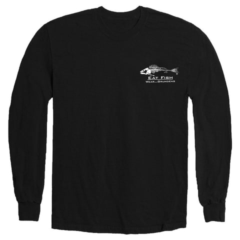 Grundens Mens Eat Fish Long Sleeve T-Shirt