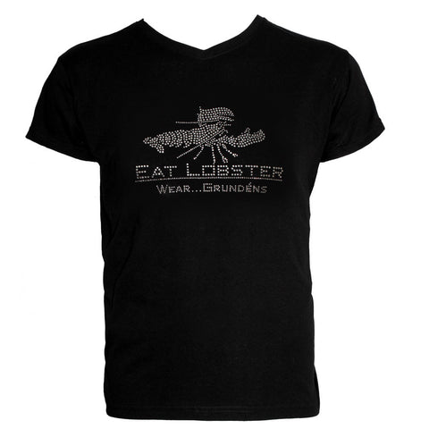 Grundens Womens Eat Lobster Bling T-Shirt