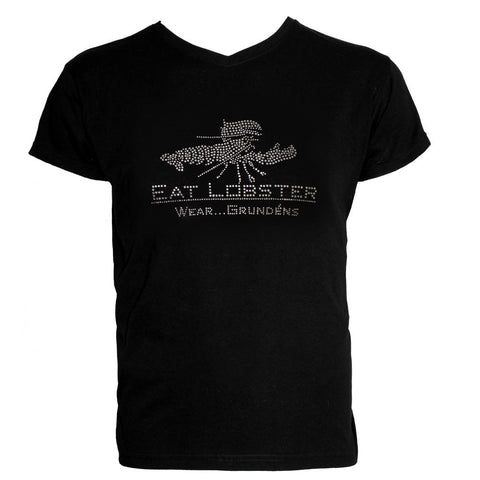 Grundéns Womens Eat Alaskan Crab Bling T-Shirt