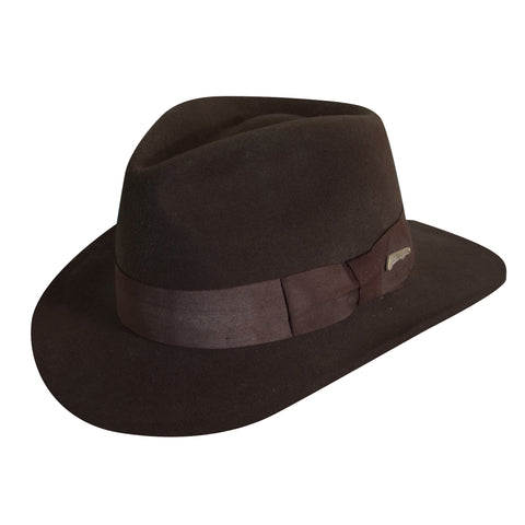 Indiana Jones Men's Promo Indy Crush Wool Felt Fedoras