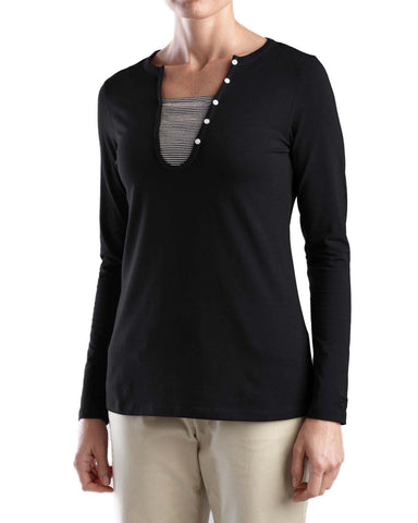 Cutter & Buck Women's Long Sleeve Dulcet Henley