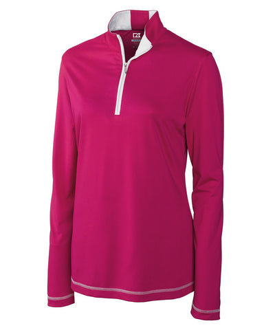 Cutter & Buck Women's Cb Drytec L/S Choice Zip Mock