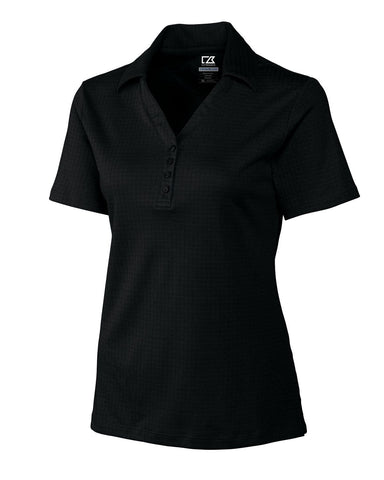 Cutter & Buck Women's Cb Drytec Luxe Element Jacquard Polo