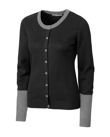 Cutter & Buck Women's Curriculum Colorblock Cardigan