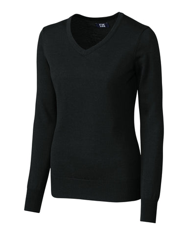 Cutter & Buck Women's L/S Douglas V-Neck