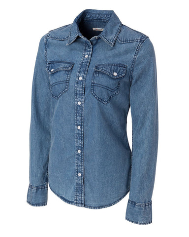 Cutter & Buck Women's L/S Wild Card Denim Shirt
