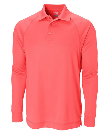 Cutter & Buck Men's Cb Drytec L/S Powell Sun Protection Polo