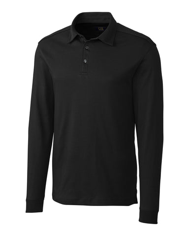 Cutter & Buck Men's L/S Pima Belfair Polo