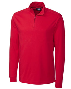 Cutter & Buck Men's L/S Pima Belfair Zip Mock