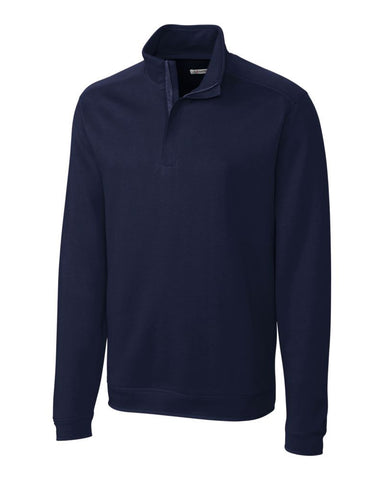 Cutter & Buck Men's L/S Pima Decatur Half Zip