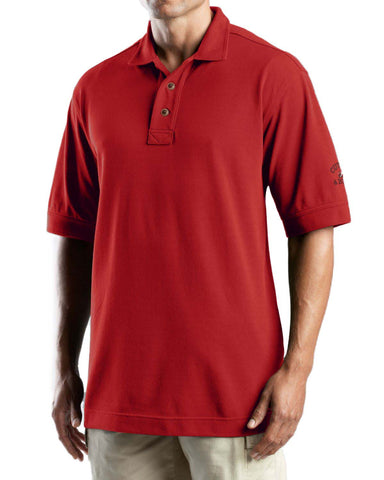 Cutter & Buck Men's Tour Logo Pique Polo