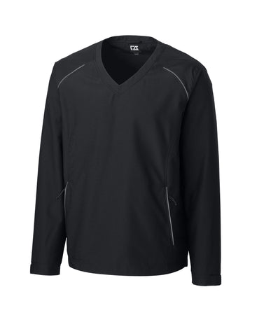 Cutter & Buck Men's Cb Weathertec Beacon V-Neck Jacket