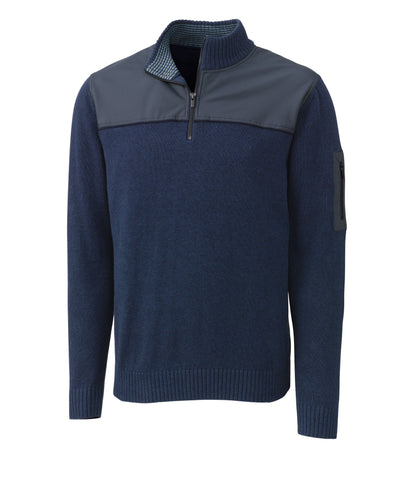 Cutter & Buck Men's Anchor Watch Hybrid Half Zip