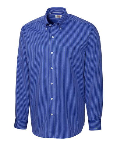 Cutter & Buck Men's L/S New Epic Easy Care Pin Stripe