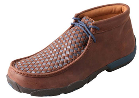 Twisted X MDM0030 Men's Driving Mocs D Toe Shoes